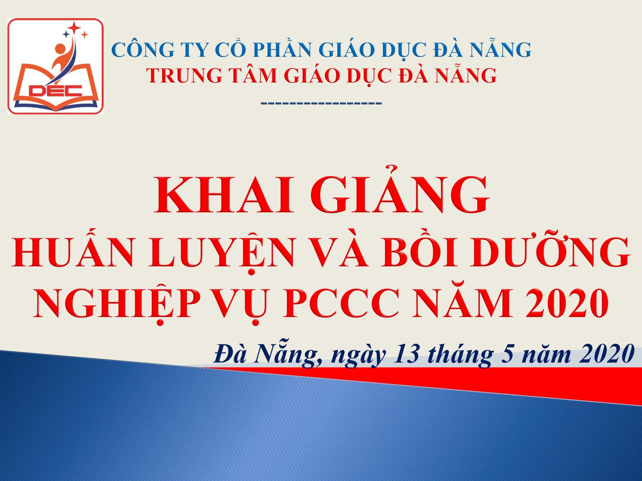 Huấn luyện nghiệp vụ PCCC ngày 13/5/2020